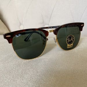 NWT Ray-Ban Clubmaster Unisex Sunglasses